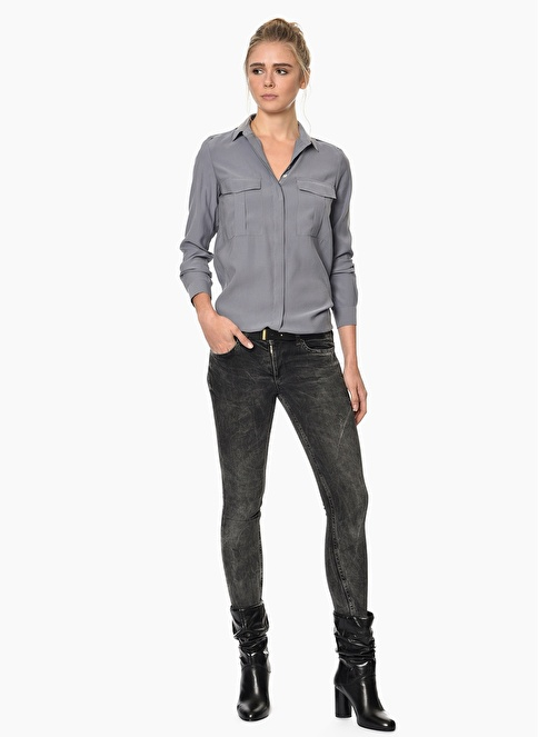 Network Slim Fit Jean Pantolon Gri